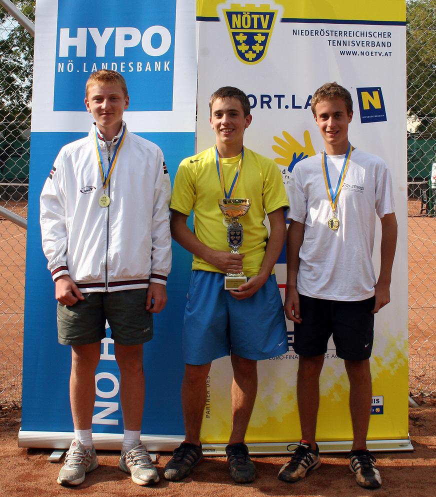 U16-Mannschafts-Landesmeister, von li: B. Linzer, P. Hecher, M. Rath