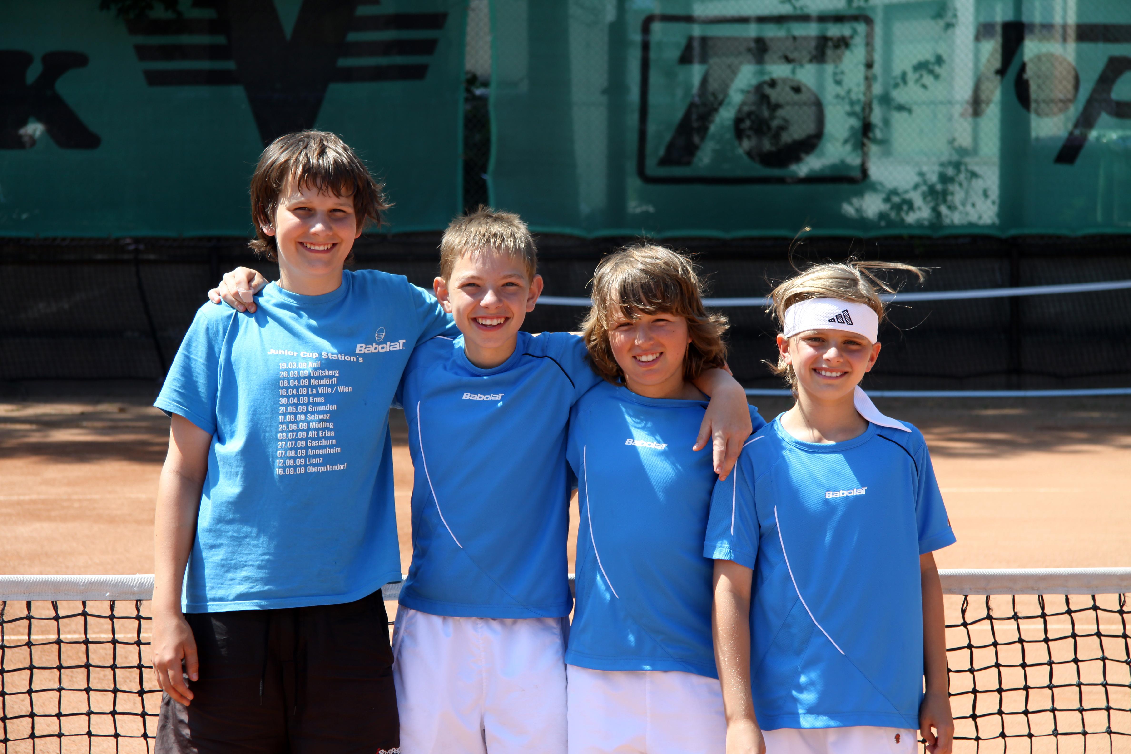 U12-Mannschafts-Landesmeister (Lukas Wohlmuth, Philip Hajos, Lukas Schotola, Maxi Baierling